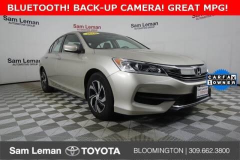 2016 Honda Accord for sale at Sam Leman Toyota Bloomington in Bloomington IL