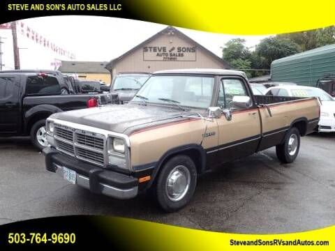 1991 Dodge RAM 250 for sale at Steve & Sons Auto Sales in Happy Valley OR