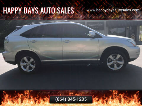 2004 Lexus RX 330 for sale at Happy Days Auto Sales in Piedmont SC