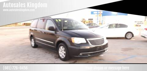 2012 Chrysler Town and Country for sale at Autosales Kingdom in Lancaster CA