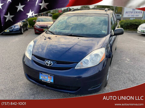 2007 Toyota Sienna for sale at Auto Union LLC in Virginia Beach VA