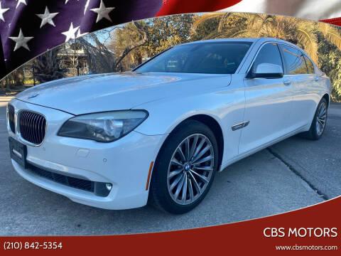 2011 BMW 7 Series for sale at CBS MOTORS in San Antonio TX