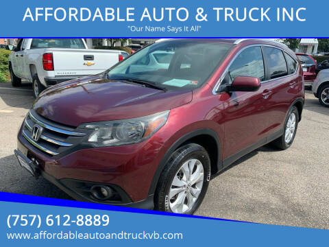 2014 Honda CR-V for sale at AFFORDABLE AUTO & TRUCK INC in Virginia Beach VA