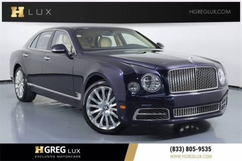 2017 Bentley Mulsanne for sale at HGREG LUX EXCLUSIVE MOTORCARS in Pompano Beach FL