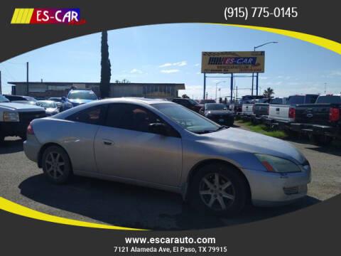 2003 Honda Accord for sale at Escar Auto in El Paso TX