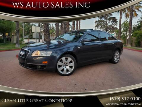 2006 Audi A6 for sale at WS AUTO SALES INC in El Cajon CA