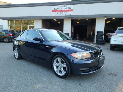 2008 BMW 1 Series for sale at Landes Family Auto Sales in Attleboro MA