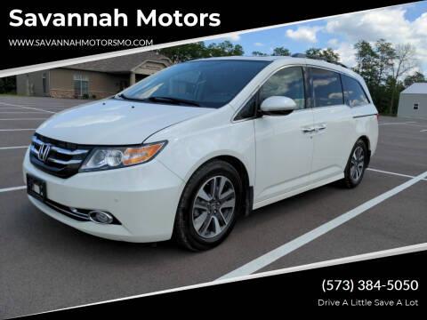 2015 Honda Odyssey for sale at Savannah Motors in Elsberry MO