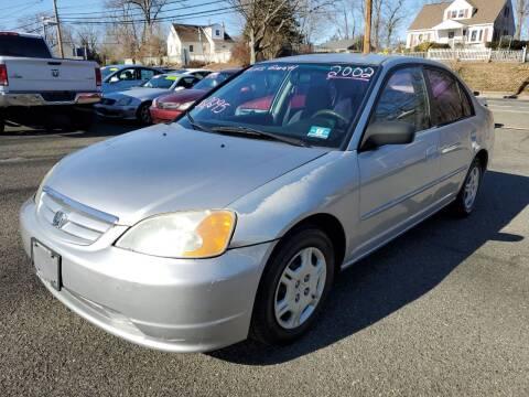 2002 Honda Civic for sale at CENTRAL GROUP in Raritan NJ
