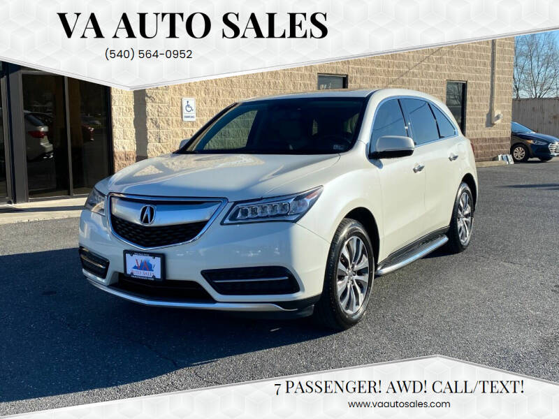 2015 Acura MDX for sale at Va Auto Sales in Harrisonburg VA