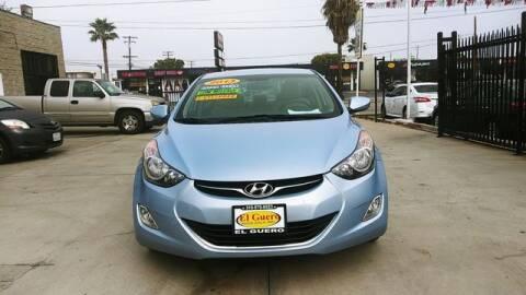 2013 Hyundai Elantra for sale at El Guero Auto Sale in Hawthorne CA