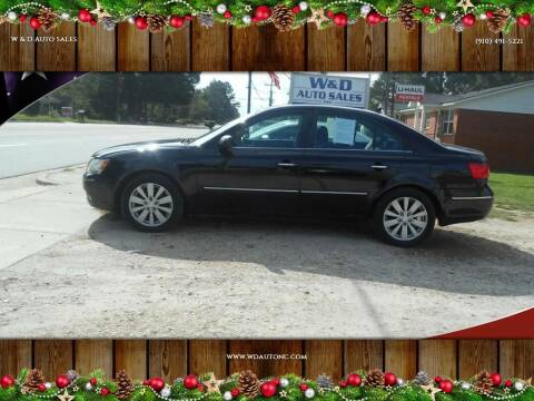 2010 Hyundai Sonata for sale at W & D Auto Sales in Fayetteville NC
