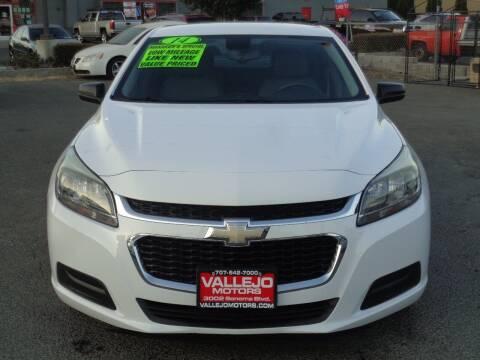2014 Chevrolet Malibu for sale at Vallejo Motors in Vallejo CA