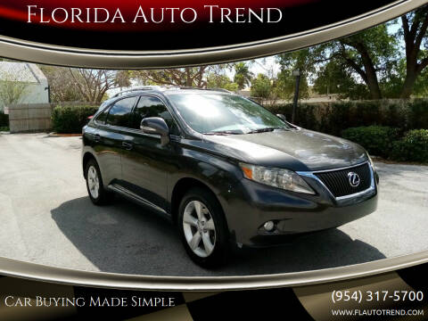 2010 Lexus RX 350 for sale at Florida Auto Trend in Plantation FL