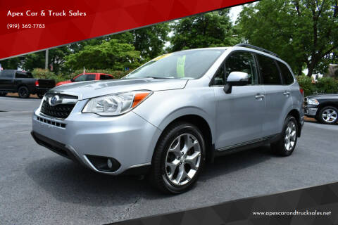 2015 Subaru Forester for sale at Apex Car & Truck Sales in Apex NC