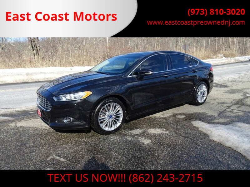 2015 Ford Fusion for sale at East Coast Motors in Lake Hopatcong NJ