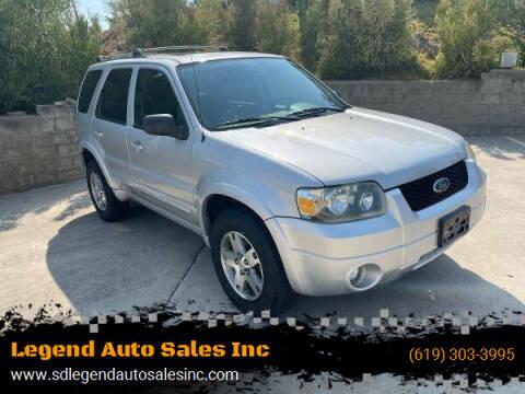 2005 Ford Escape for sale at Legend Auto Sales Inc in Lemon Grove CA