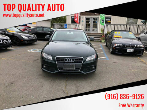 2009 Audi A4 for sale at TOP QUALITY AUTO in Rancho Cordova CA