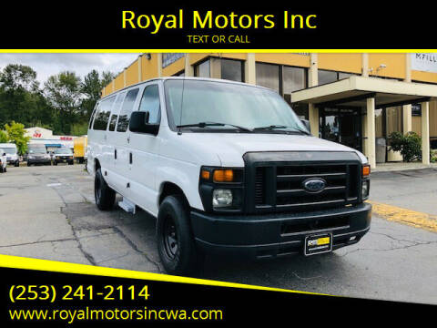 2012 Ford E-Series Wagon for sale at Royal Motors Inc in Kent WA