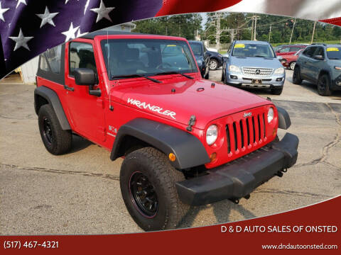 2009 Jeep Wrangler for sale at D & D Auto Sales Of Onsted in Onsted MI