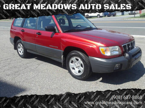 2001 Subaru Forester for sale at GREAT MEADOWS AUTO SALES in Great Meadows NJ