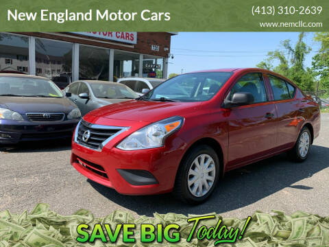 2015 Nissan Versa for sale at New England Motor Cars in Springfield MA