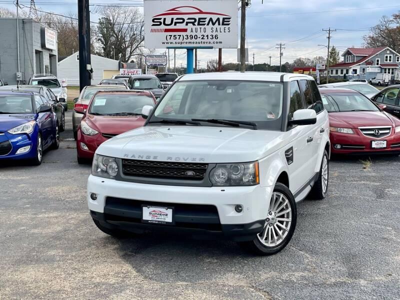 2011 Land Rover Range Rover Sport for sale at Supreme Auto Sales in Chesapeake VA