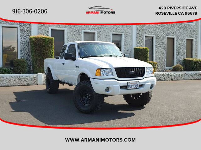 2001 Ford Ranger for sale at Armani Motors in Roseville CA