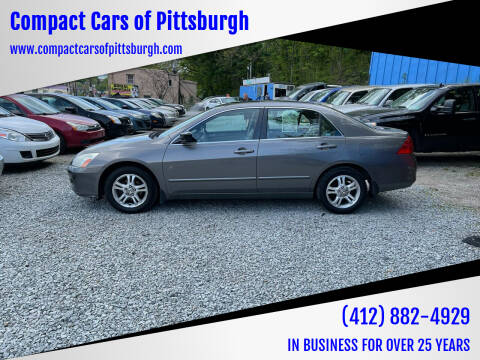2006 Honda Accord for sale at Compact Cars of Pittsburgh in Pittsburgh PA