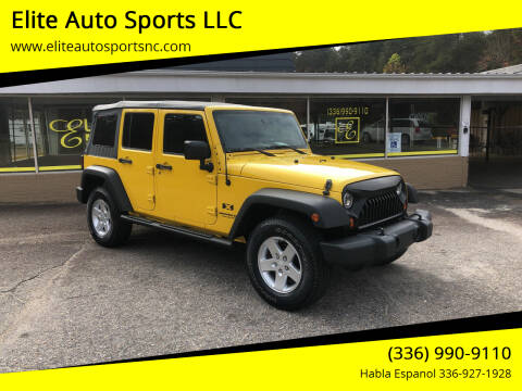 2008 Jeep Wrangler Unlimited for sale at Elite Auto Sports LLC in Wilkesboro NC