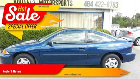 2002 Chevrolet Cavalier for sale at Route 3 Motors in Broomall PA
