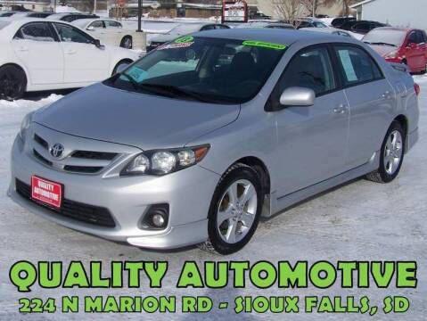 2013 Toyota Corolla for sale at Quality Automotive in Sioux Falls SD
