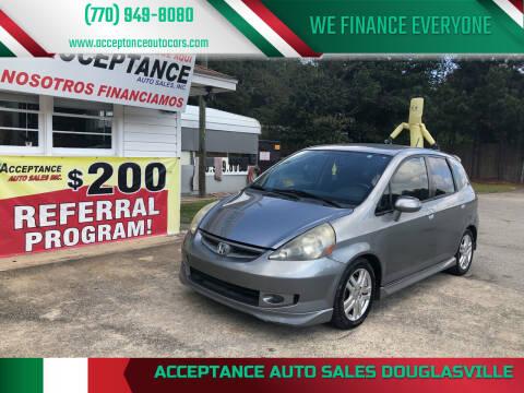 2008 Honda Fit for sale at Acceptance Auto Sales Douglasville in Douglasville GA