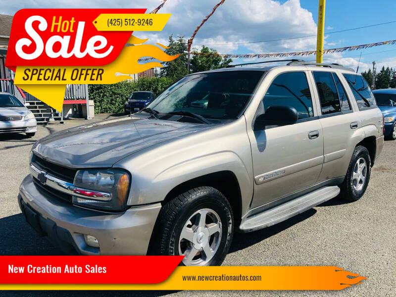 2003 Chevrolet TrailBlazer for sale at New Creation Auto Sales in Everett WA