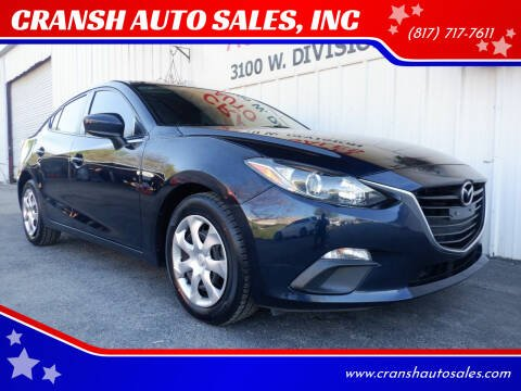 2016 Mazda MAZDA3 for sale at CRANSH AUTO SALES, INC in Arlington TX