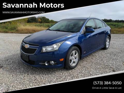 2012 Chevrolet Cruze for sale at Savannah Motors in Elsberry MO