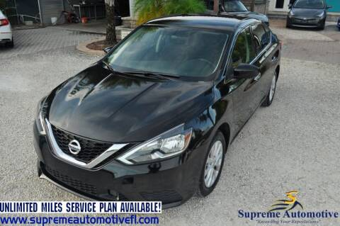2019 Nissan Sentra for sale at Supreme Automotive in Land O Lakes FL