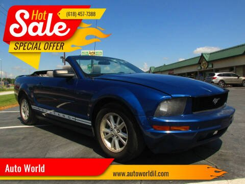 2008 Ford Mustang for sale at Auto World in Carbondale IL