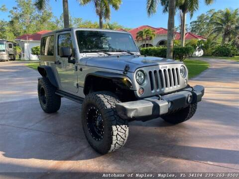 2015 Jeep Wrangler for sale at Autohaus of Naples Inc. in Naples FL