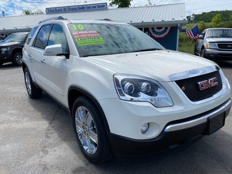 2010 GMC Acadia for sale at HACKETT & SONS LLC in Nelson PA