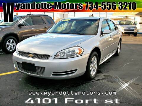 2013 Chevrolet Impala for sale at Wyandotte Motors in Wyandotte MI