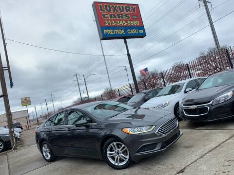 2018 Ford Fusion for sale at Dymix Used Autos & Luxury Cars Inc in Detroit MI