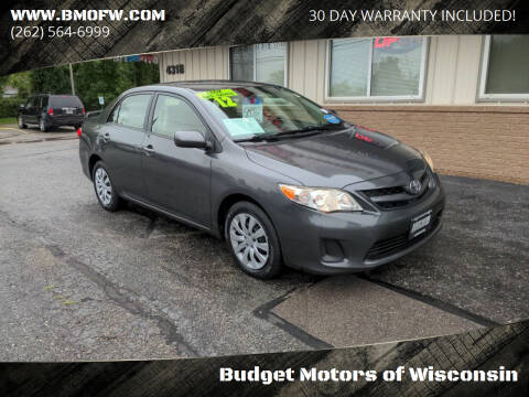 2012 Toyota Corolla for sale at Budget Motors of Wisconsin in Racine WI