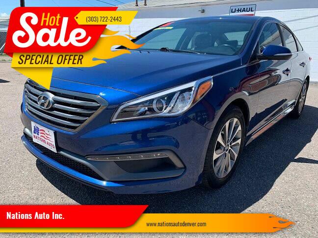 2016 Hyundai Sonata for sale at Nations Auto Inc. in Denver CO