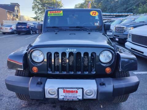2012 Jeep Wrangler Unlimited for sale at Elmora Auto Sales in Elizabeth NJ