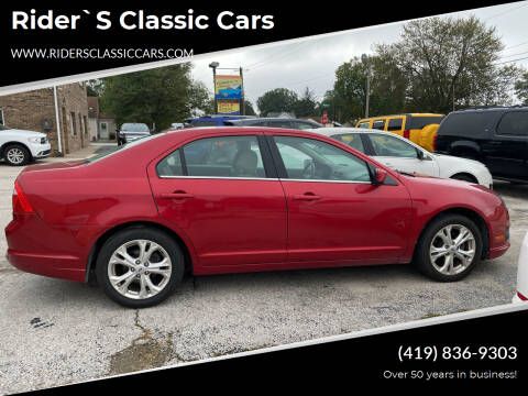 2012 Ford Fusion for sale at Rider`s Classic Cars in Millbury OH