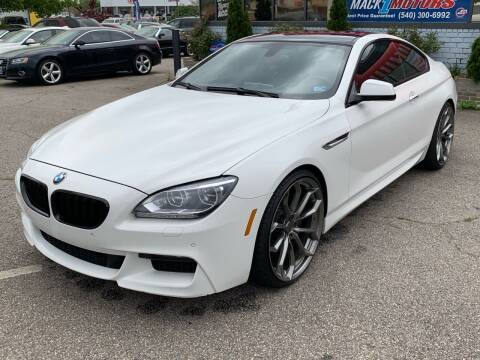 2013 BMW 6 Series for sale at Mack 1 Motors in Fredericksburg VA