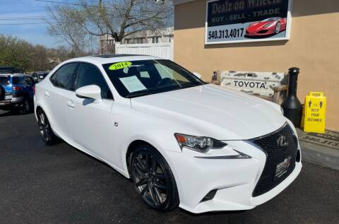 2014 Lexus IS 250 for sale at DEALZ ON WHEELZ in Winchester VA