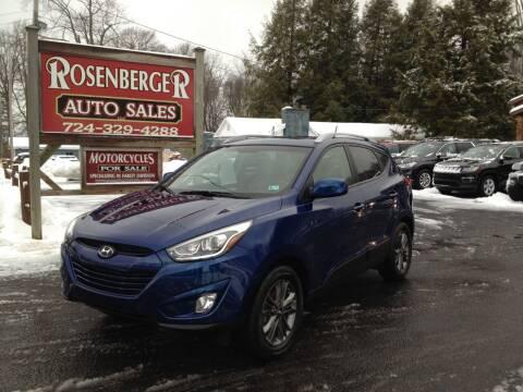 2014 Hyundai Tucson for sale at Rosenberger Auto Sales LLC in Markleysburg PA