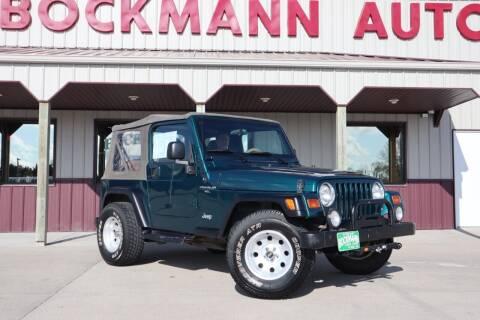 1997 Jeep Wrangler for sale at Bockmann Auto Sales in St. Paul NE